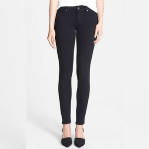 Paige 'Verdugo' Ultra Skinny Jeans in Black Shadow